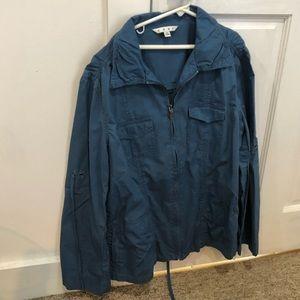 Oversized blue utility jacket
